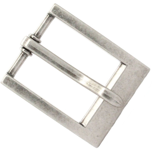 "Heel Bar Belt Buckle Antique Nickel 1-1/4"" Top"