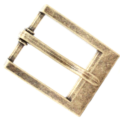 "Heel Bar Belt Buckle Antique Brass 1-1/4"" Top"