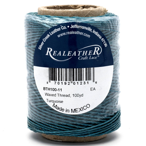 Waxed Thread Turquoise 100 Yards