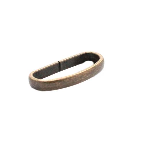 "Solid Brass Antique Brass Strap Loop Keeper 1"""