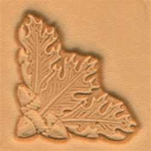 Oak Leaf Corner 3-D Stamp