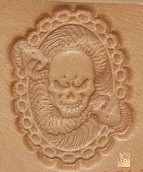 Skull And Snake Stamp
