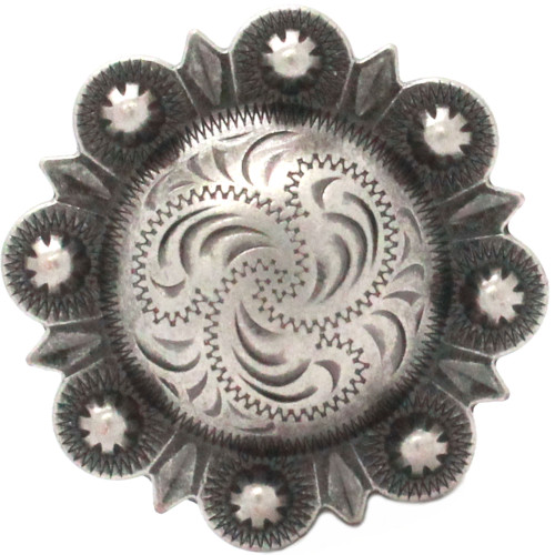 """Berry Concho 2"""" Antique Silver Front"""