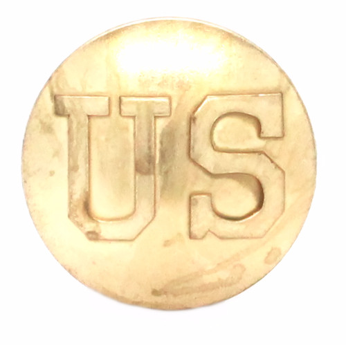 US Calvary Concho Brass Screw Back Front