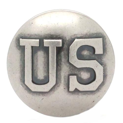 US Calvary Concho Antique Nickel Screw Back Front