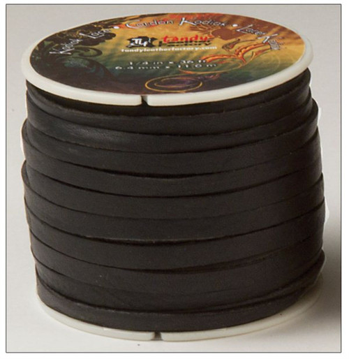 "Black Kodiak Lace 1/4"""