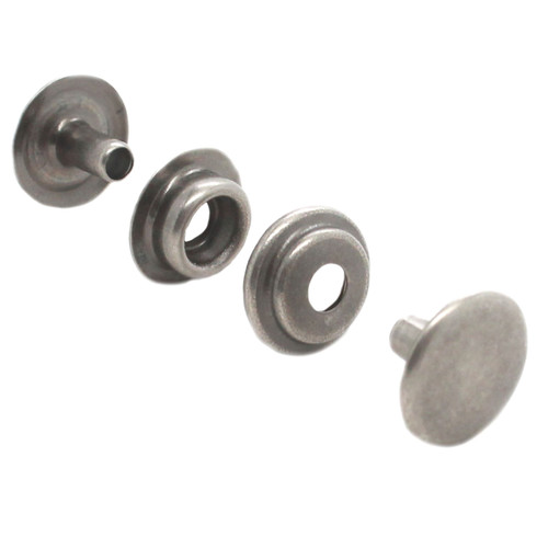 Line 24 Antique Nickel Plated Snap 10 Pack