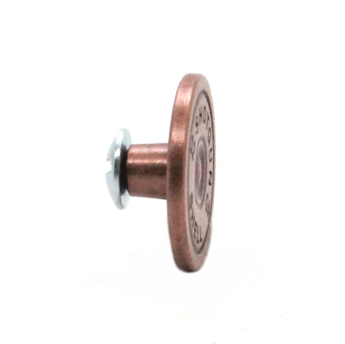 12 Gauge Shell Concho Metal Antique Copper Side