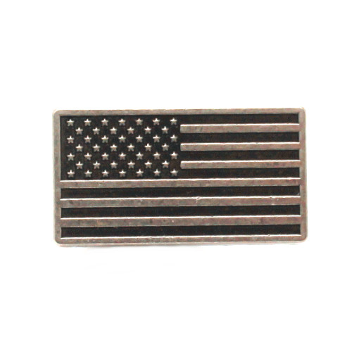 Tactical US Flag Decorative Snap Set Concho Front
