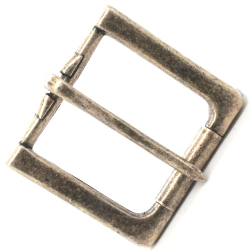 Rugged Roller Belt Antique Brass Buckle Top