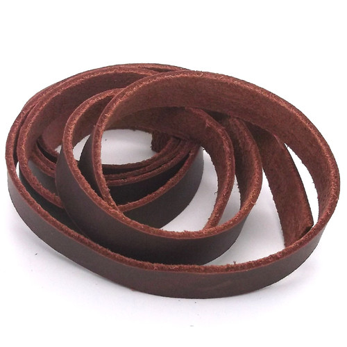 "Burgundy Latigo Saddle String Leather Strap 1/2"" X 60"""