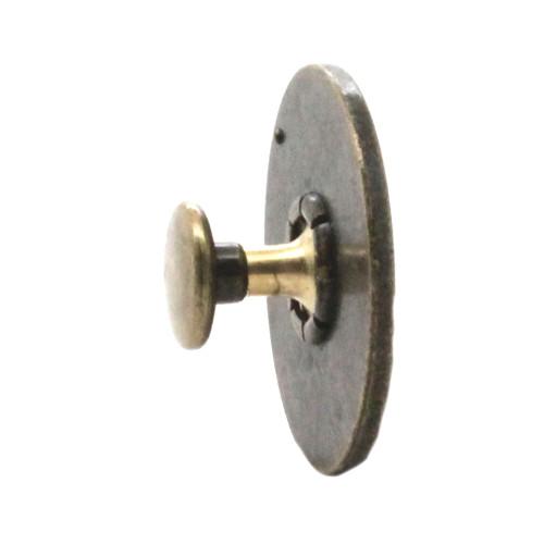 "Rivet Concho 12 Gauge Antique Brass 1"" Side"