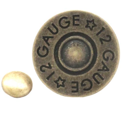"""Rivet Concho 12 Gauge Antique Brass 1"""" Front"""
