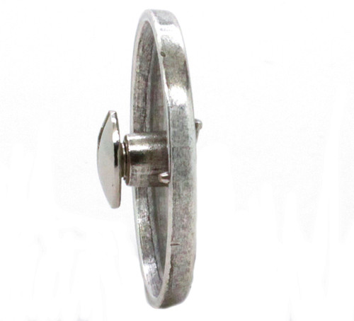 """Steer Screw Back Concho Old Silver 1-1/4"""" Side"""