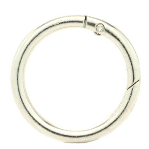 "Spring Gate Rings Carabiner 1-1/4"" Shiny Nickel"