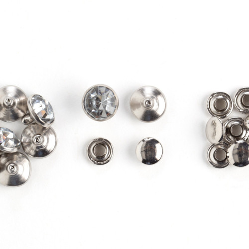Synthetic Crystal Rivets Clear 7mm 10 Pack