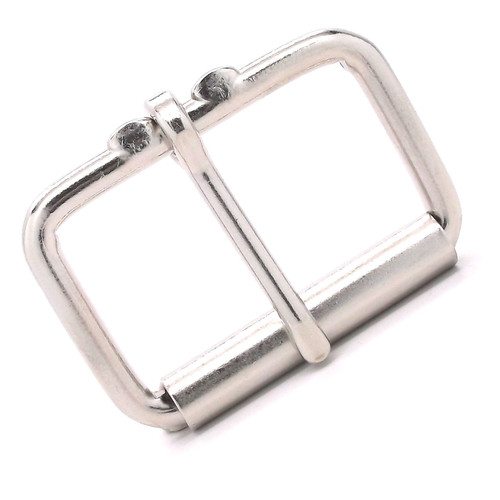 Nickel Roller Buckle Single Prong 2""