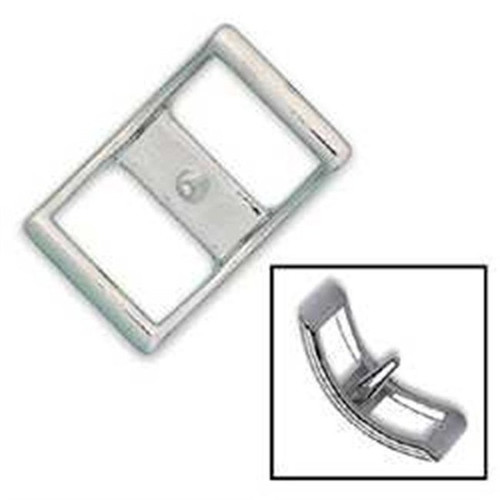 Nickel Plated Conway Buckle 1""