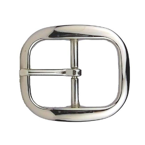 Center Bar Belt Buckle Nickel Plated