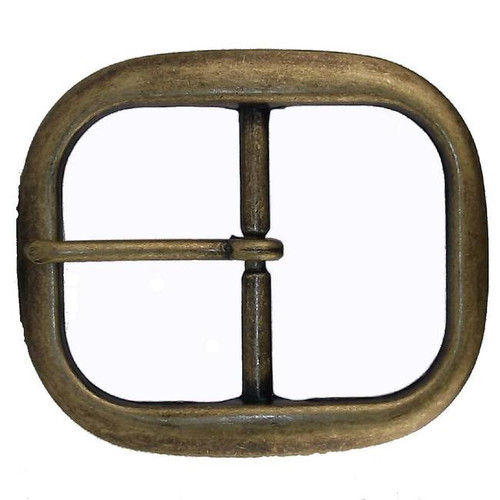 Center Bar Belt Buckle Antique Brass 1-1/4""