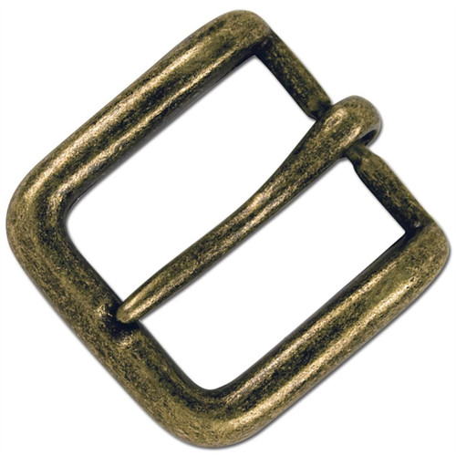 Wave Belt Buckle Solid Antique Brass