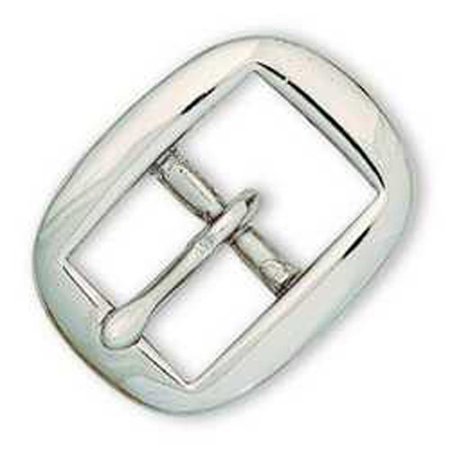 Solid Brass Nickel Plated Oval Bridle Buckle 5/8""