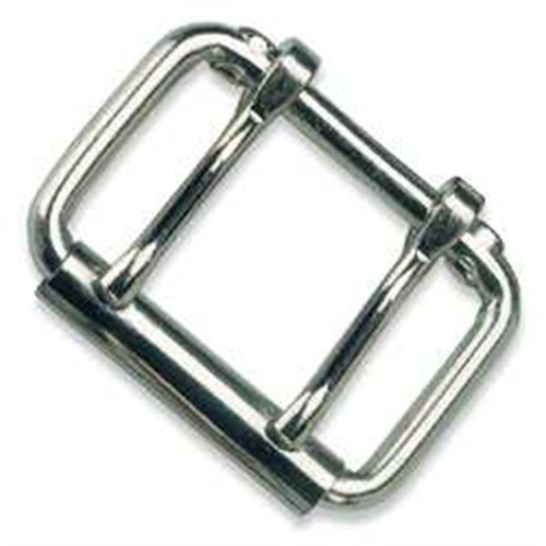 Double Prong Nickel Roller Buckle 2-1/2""