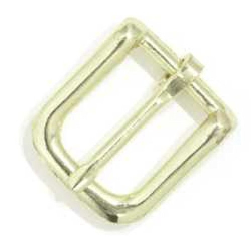 "Bridle Buckle #12 1/2"" (1.3 cm) Brass Plated 1600-01"