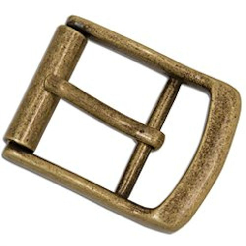 "Dunham Roller Buckle 1-1/2"" Antique Brass Finish 1644-09"