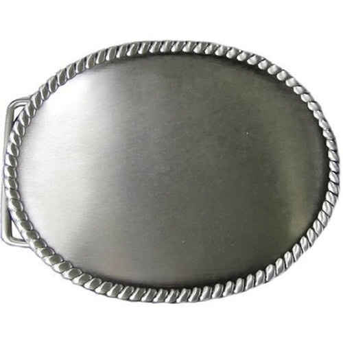Rope Edge Buckle Blank Antique Silver Plate 1764-00