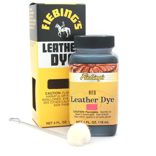 Red Fiebing's Leather Dye 4 oz. 2100-13
