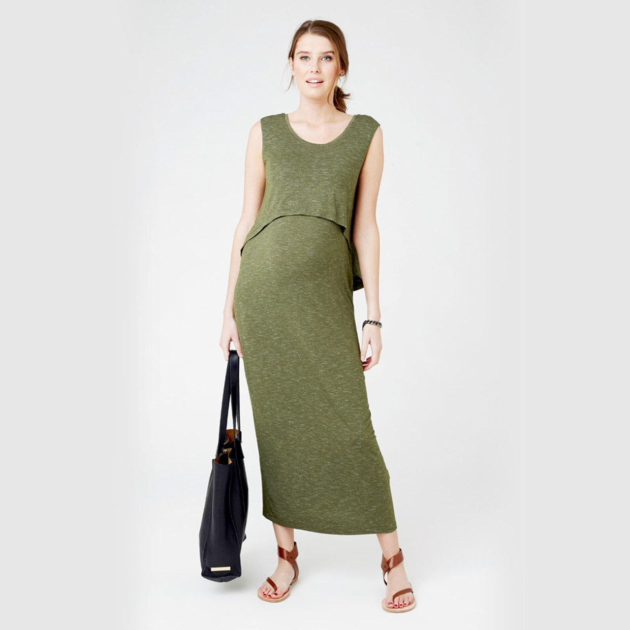 search for authentic free delivery united kingdom Ripe Maternity Nursing Swing Back Maxi Dress - Kombi