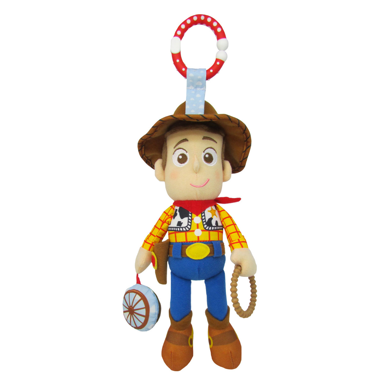 DISNEY TOY STORY 4 WOODY PLUSH BACKPACK CLIP NEW!