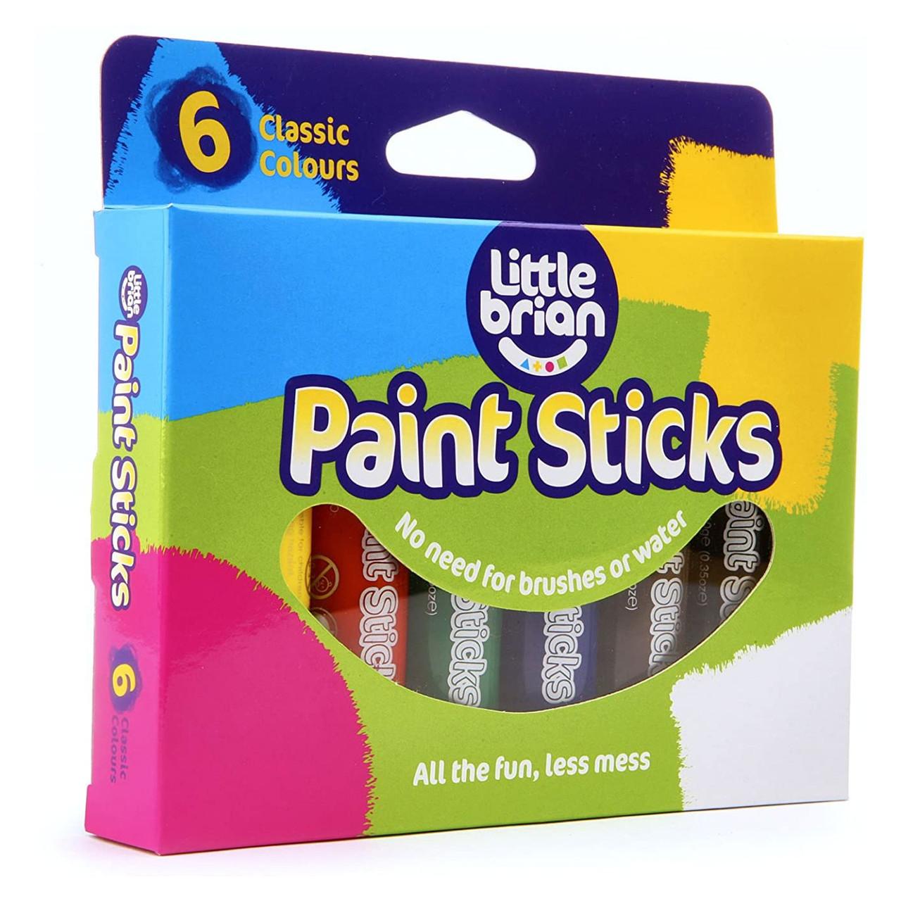 Little Brian Paint Sticks Classic 6 Pack Shop Arts Craft Ideas Online