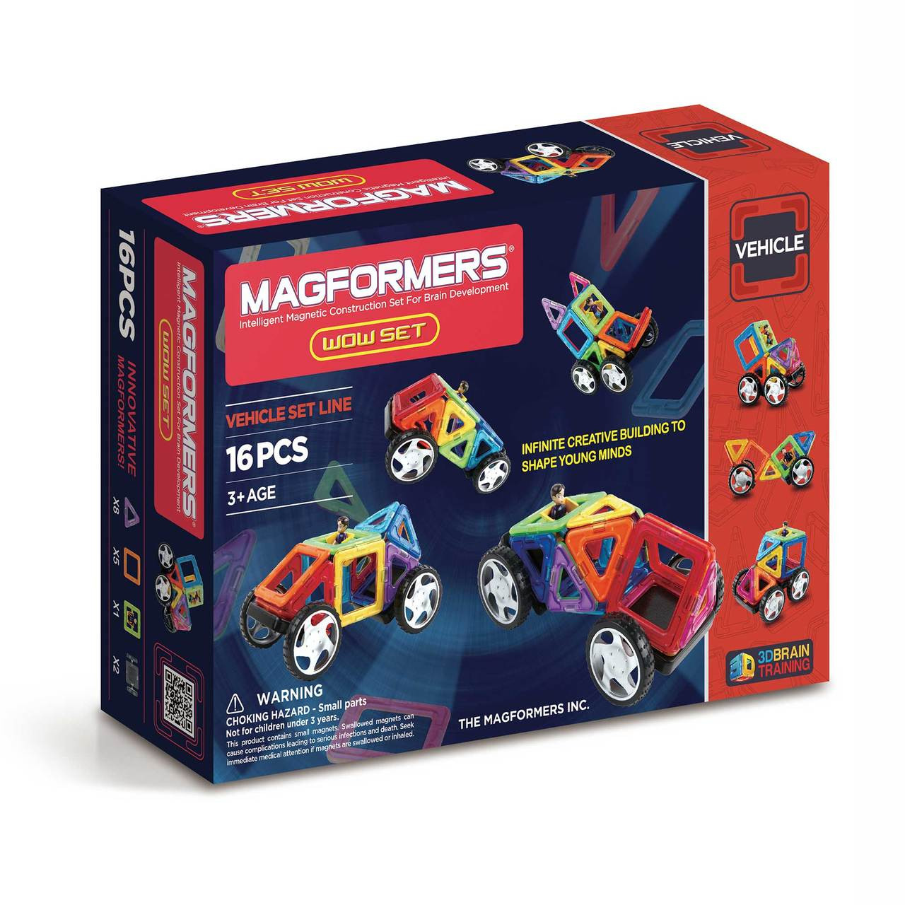 Magformers 14 Pieces Set Educational Shapes 3D Brain Development Magnetic Buildi Baby Gyms & Play Mats Baby Gear