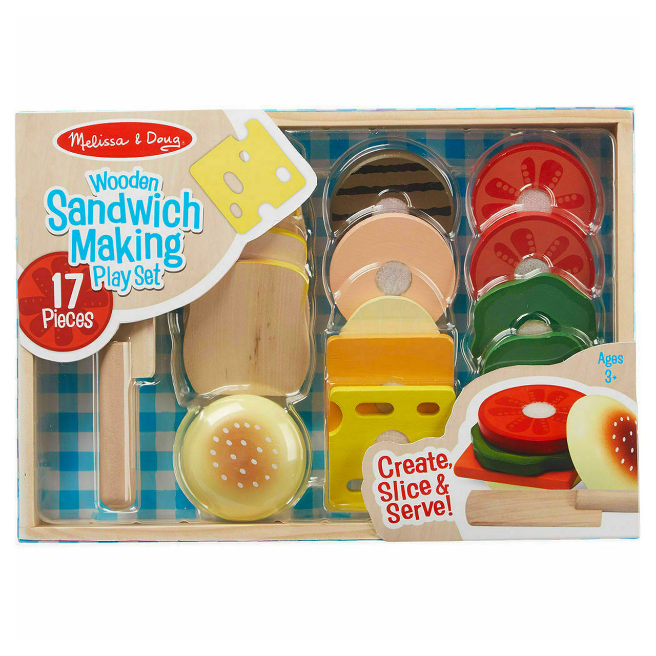Melissa Doug 17 Piece Sandwich Making Set