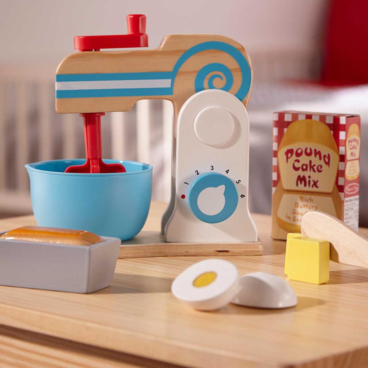 Melissa Doug Wooden Make A Cake Mixer Set