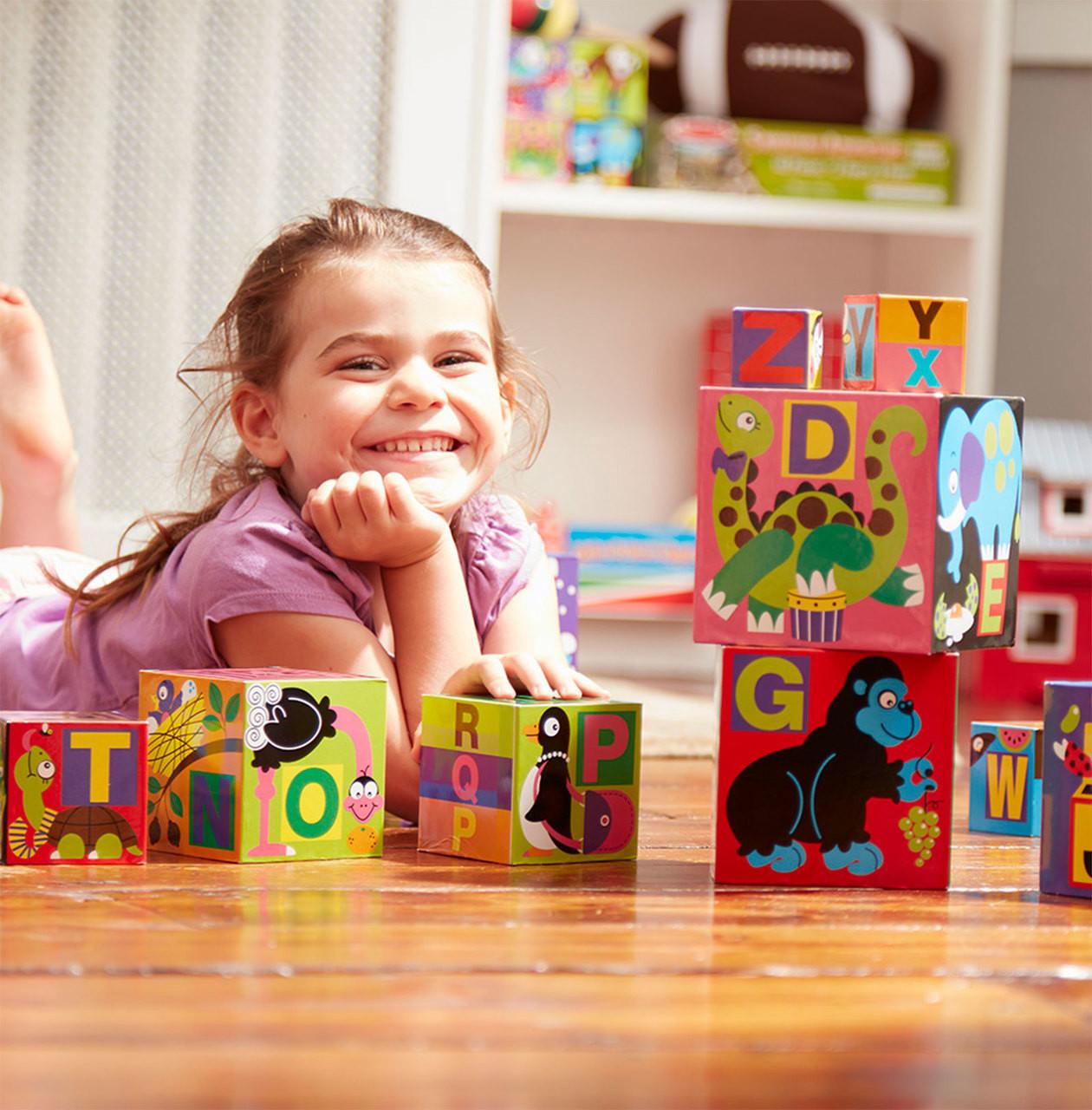 Melissa Doug Alphabet Nesting Stacking Blocks