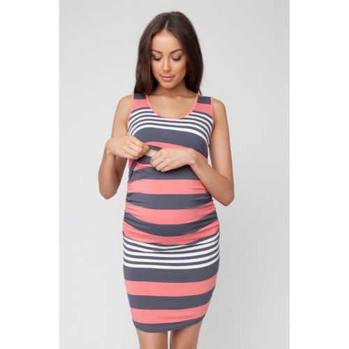 f34aacd121 Buy Ripe Maternity Stripe Nursing Tube Dress - Peekaboo Baby Online