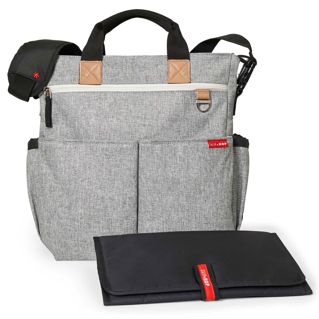 231c8196925aa Skip Hop Grey Melange Duo Signature Diaper Bag - Shop Online