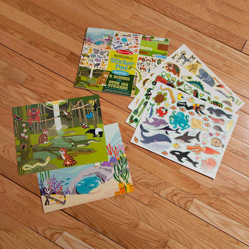 Melissa Doug Reusable Sticker Book Habitats