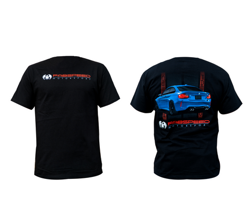 Premium heavyweight t-shirt printed with the Fabspeed Logo on the front and a custom-designed BMW M2 graphic on the rear.
