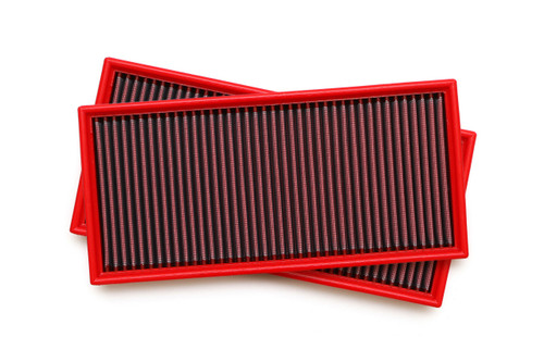High performance drop-in replacements for the factory air filters; fits OEM Cayenne air box for improved airflow and performance.