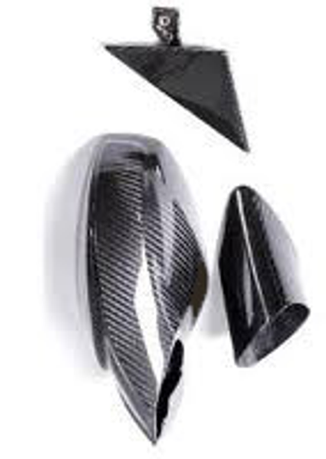 458 Side Mirrors w/Outer Door Triangle Trim