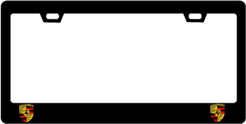 Porsche CF Plate Frame CREST ONLY / CREST 2X2