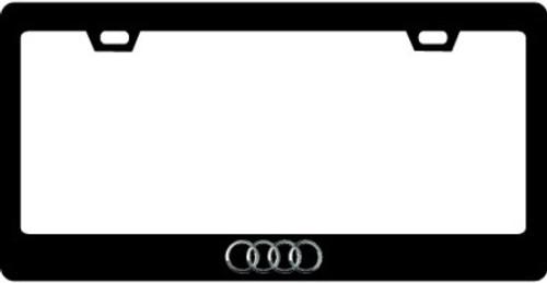 AUDI CF Plate Frame Silver Logo Only 2X2