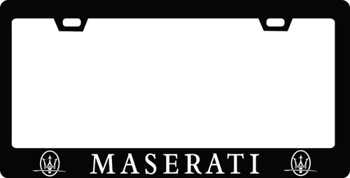 Maserati CF Plate Frame WHITE TEXT ONLY 2x2