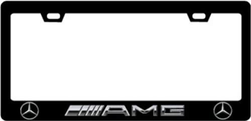 Mercedes Benz AMG CF Plate Frame SILVER TEXT