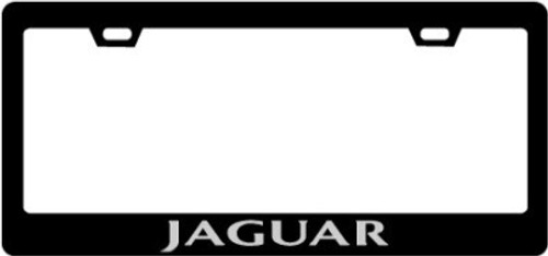 Jaguar Plate Frame TEXT ONLY Silver