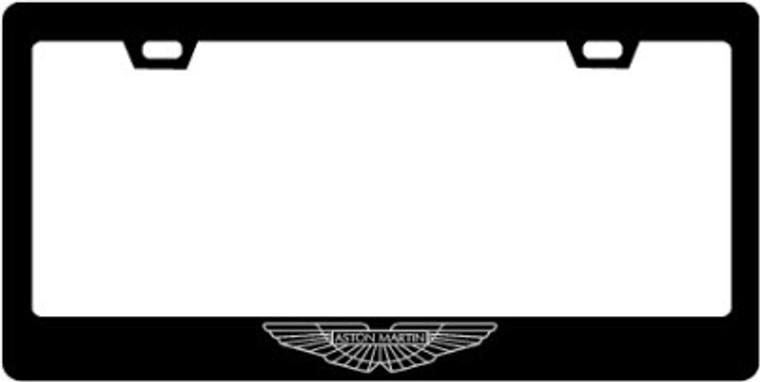 Aston Martin CF Plate Frame SILVER Logo Only